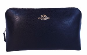 Coach XGrain Cosmetic Case 22 LG Travel Pouch Leather Bag Purse