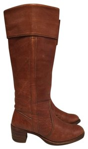 Frye Brown Riding Western Cognac Boots