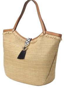 Stella & Dot Tote in Tan and Black