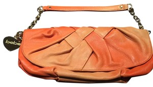 bebe Ombre Charms Orange Ombre Clutch