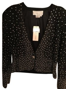 Adrienne Vittadini Special Occasion Jacket Top Black