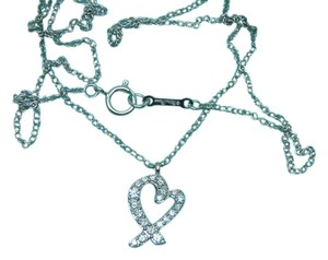 Tiffany & Co. PALOMA PICASSO DIAMOND LOVING HEART NECKLACE 16