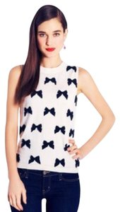 Kate Spade Top ivory with black bows