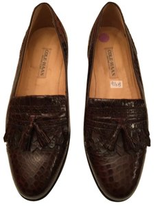 Cole Haan Alligator Leather Loafer Brown Flats
