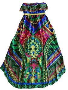 Flying Tomato short dress Multi Color High Low Aztec Tribal Strapless Summer on Tradesy