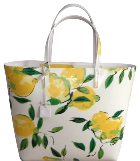 Kate Spade Tote in White/yellow