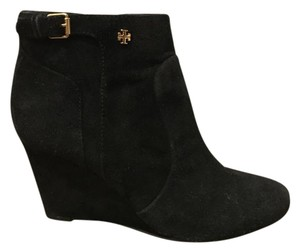 Tory Burch Boot Bootie Wedge Black Boots