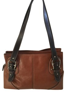 Etienne Aigner Genuine Leather Tote in brown