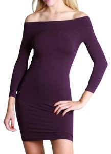 Nikibiki short dress Purple Off 3/4 Sleeve Seamless on Tradesy