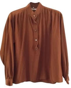 Saint Laurent Silk Chic Top Rust