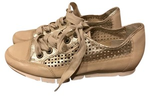 Paul Green Empire Waist Perforated Sneakers Sneakers Sneakers Sneaker Gold Flats