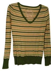 Mossimo Supply Co. Cotton Striped V-neck Sweater