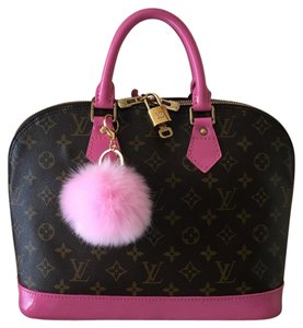 Louis Vuitton Satchel in Pink Brown