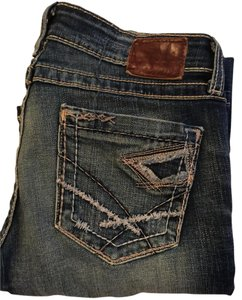 BKE Stella Stretchy Distressed Boot Cut Jeans