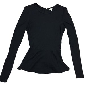 Wilfred Peplum Longsleeve Top Black