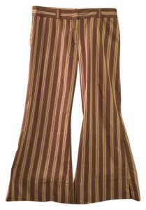 BCBGMAXAZRIA Super Flare Pants Taupe and tan