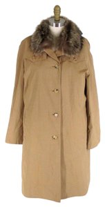 Burberry Trench Fur Trim Classic Trench Coat