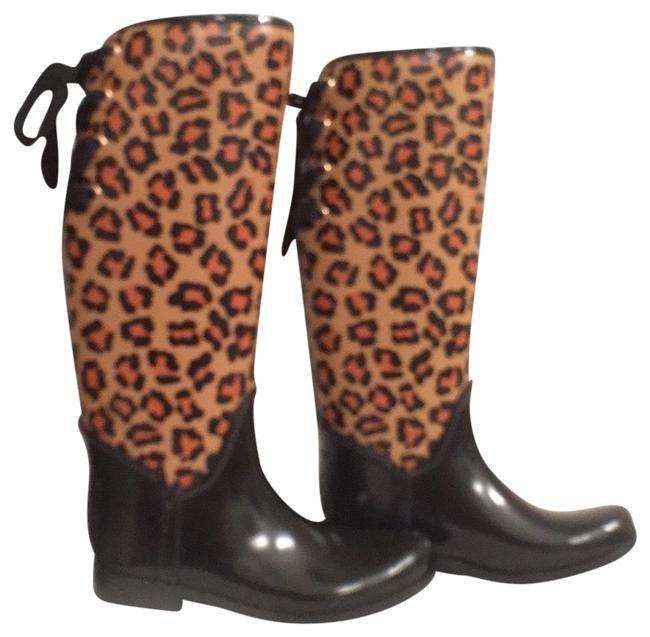 Item - Black Multi New Tristee Style # A8441 Rubber Boots/Booties Size US 7 Regular (M, B)