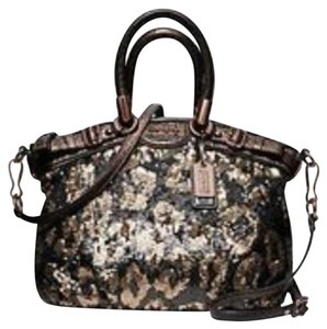 Coach Satchel in Bronze/Brown