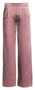 Juan Carlos Obando Silk Comfortable Soft Luxury Wide Leg Pants Blush