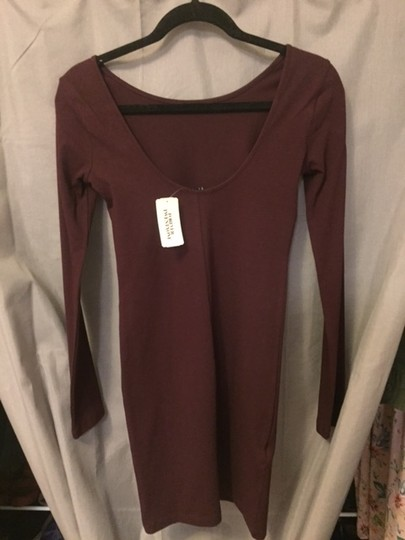 c5262fddf7cd86 30%OFF Forever 21 Burgundy Long Sleeve Bodycon Dress - www.cleverink ...