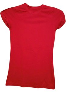 Dots Fitted Cotton Polyester T Shirt Red