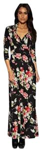 Black Multi Maxi Dress by Oasis Floral Sexy Maxi Romantic Dolce&gabbana