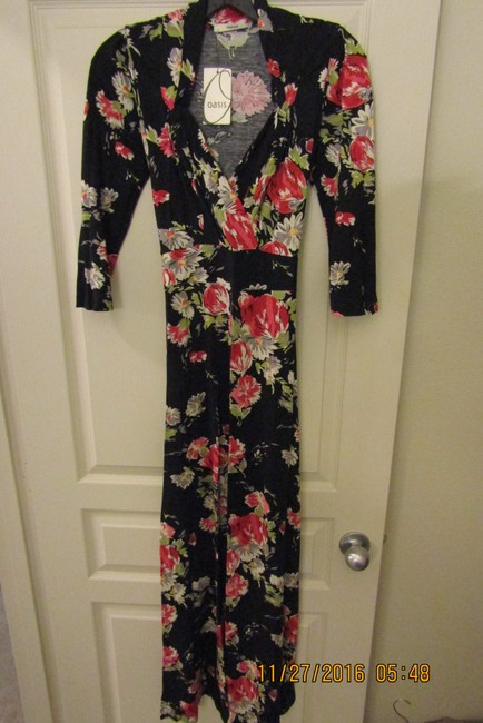 Black Multi Maxi Dress by Oasis Floral Sexy Maxi Romantic Dolce&gabbana Image 1