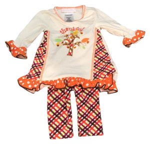 Bonnie Baby Thankful Infant Baby Girl 3-6M Outfit