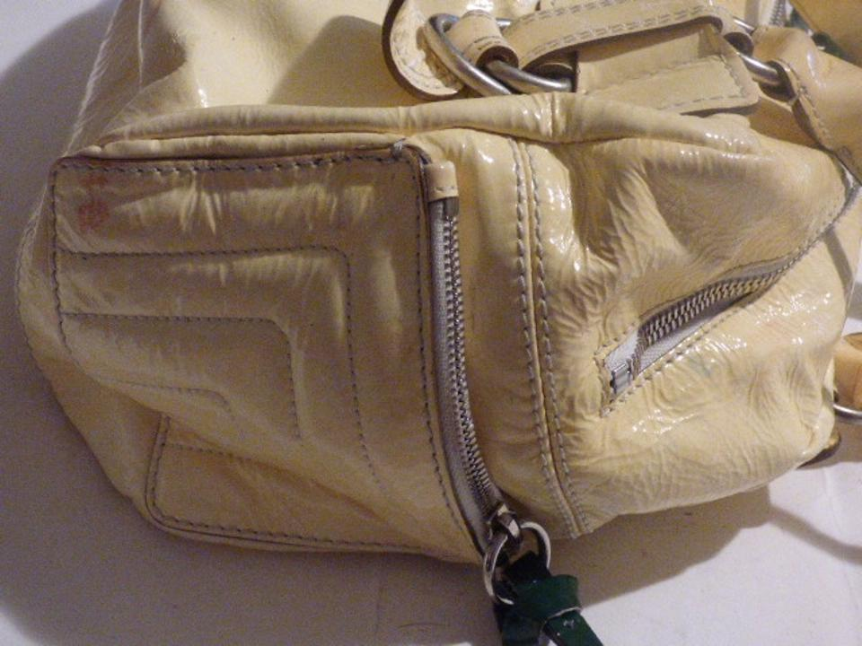 Chloé Newer Chloe /designer Pale Yellow With Green Patent Leather ...
