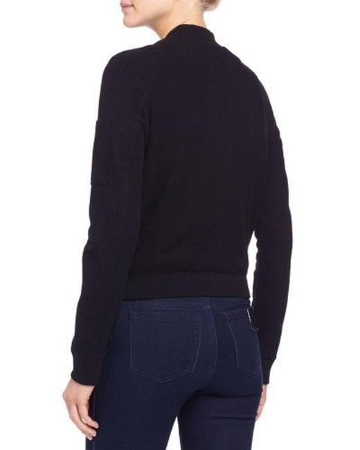 James Perse Bomber Brushed Fleece Sale Black Jacket