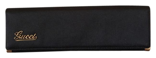 Item - With Silver Edges Black Satin Clutch