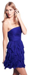 Free People Rags To Riches Blue Cocktail Flirty Ruffled Dress