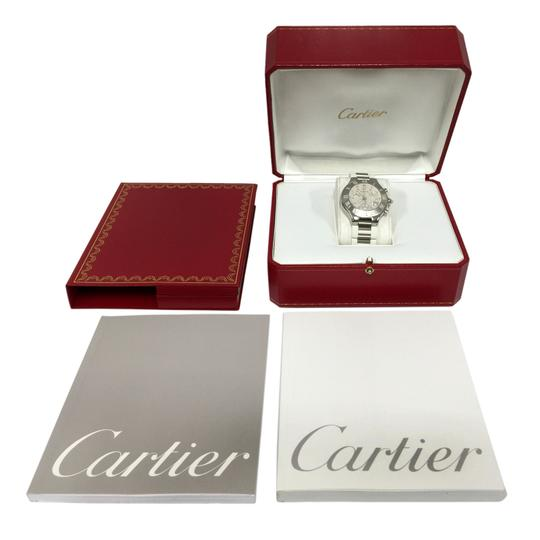 Cartier Cartier Stainless Steel & White 38MM Rubber Must 21 Chronoscaph Vintage