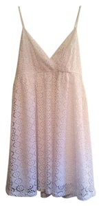 Express short dress White Summer Eyelet Lace on Tradesy