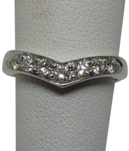Tiffany & Co. Diamond & Platinum Heart Band Ring SZ 5.5