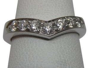 Tiffany & Co. Diamond & Platinum Heart Band Ring SZ 6.5