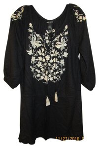 Lucky Brand Embroidered Beach Cover Up Mini Dress Tunic