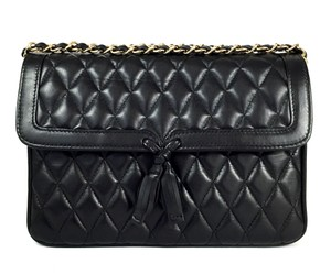 Loderer Leather Chain Party Lambskin Cross Body Bag