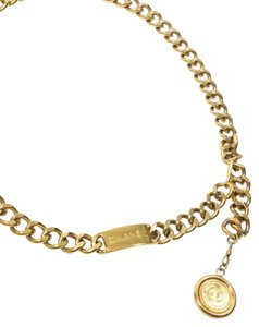 Chanel Chanel Gold Link Chain with Logo Medallion