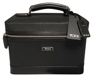 Tumi Train Travel/Storage/Cosmetic Black Saffiano Leather Case