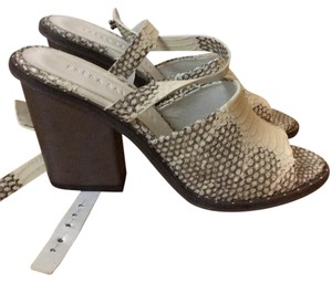 Freda Salvador Cream snakeskin Wedges