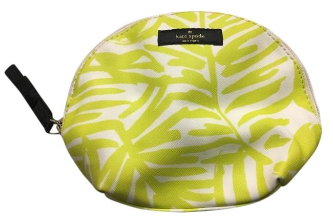 Item - White and Green Lolly Grant Palm Print Small Dome Cosmetic Bag