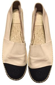 Tory Burch Creme and Black Flats