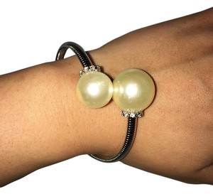 Other pearl embellished coiled bracelet