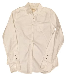 American Eagle Outfitters Button Down Shirt Whitw
