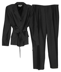 Le Suit Le Suit New Womens Gray Three Button Belted Jacket Pant Suit 16