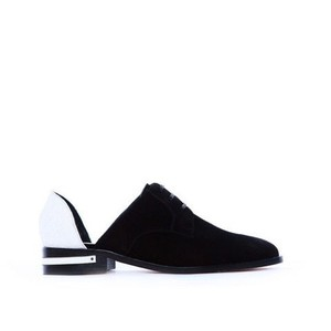 Freda Salvador White & Black Flats