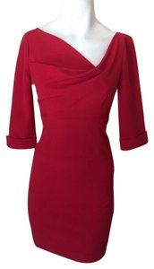 Black Halo Red Sheath Dress