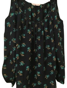 Rebecca Taylor Cold Silk Floral Floral Top Navy floral